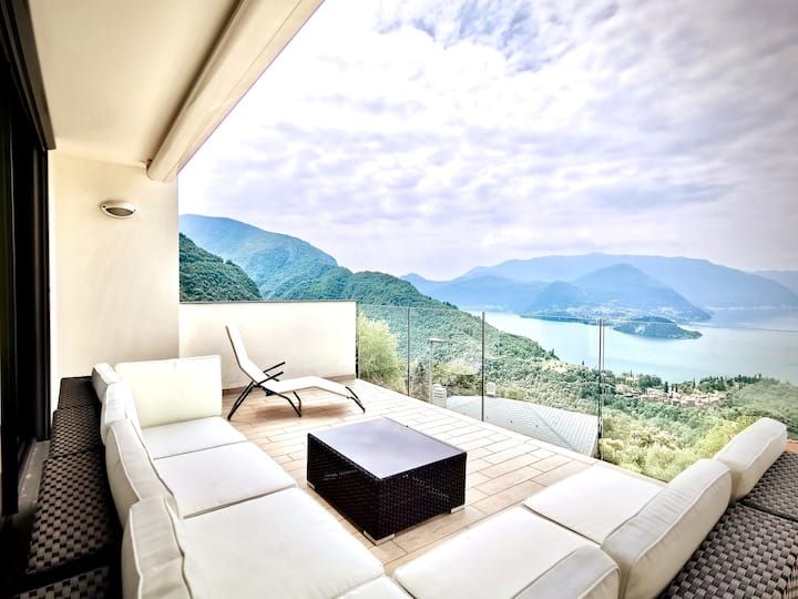 Panoramic Apartment Lake Como View AC Wifi Terrace