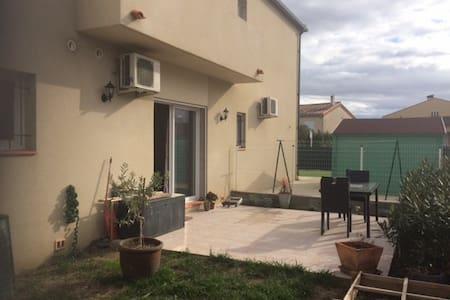 Appart F2 calme avec jardin + parking - Le Soler - Apartamento