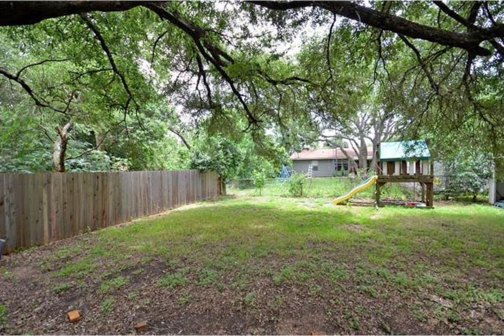 Enjoy a spacious backyard in a quiet neighborhood