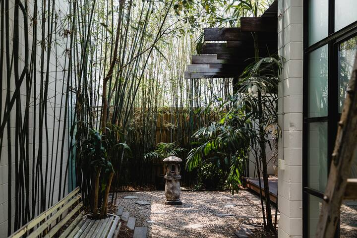 Courtyard garden- a tranquil green space in Fortitude Valley