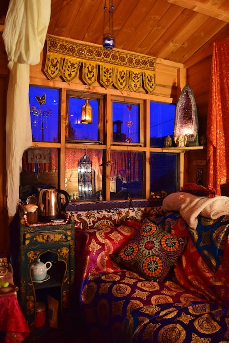 Our fabulous Moroccan Tea Room in the summer house