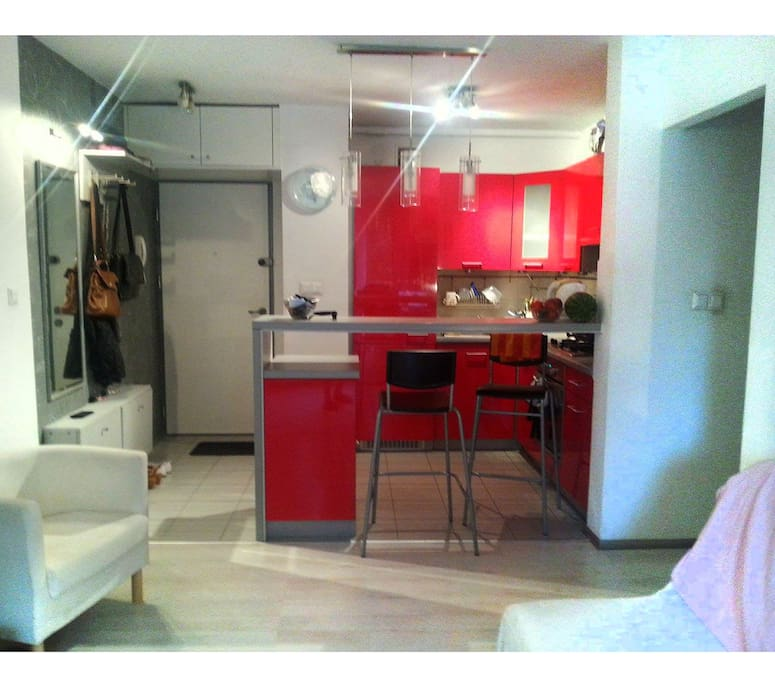 Our wonderful red kitchen