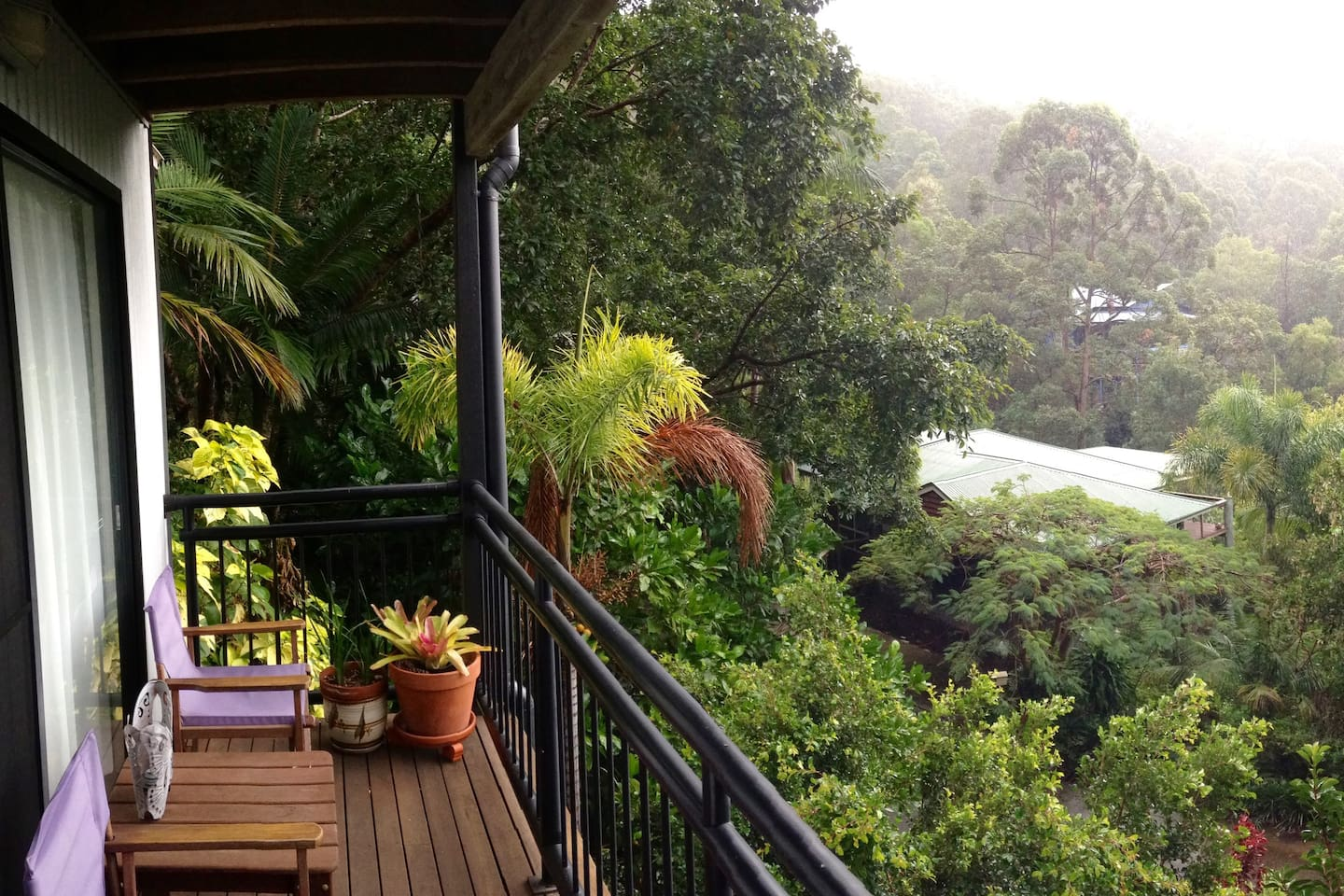 Savour a glass of wine or a cuppa overlooking your rainforest views.