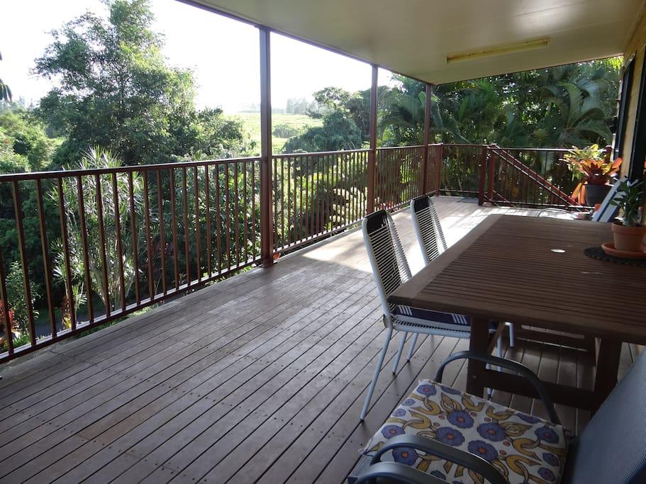The verandah.