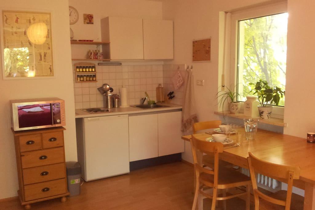 Kitchenette/Koch- und Eßbereich