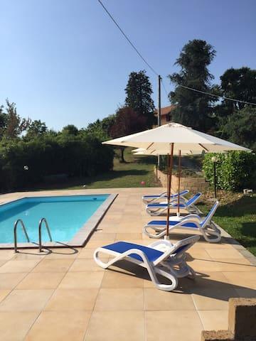 Affitto casa campagna con piscina - Brozolo - Hus
