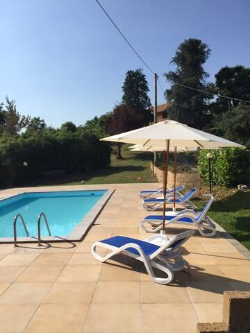 Affitto casa campagna con piscina - Brozolo - Huis