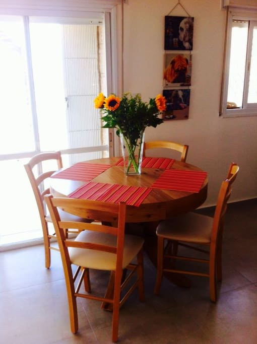 dinning table (opens into a big table suitable for 10 people)