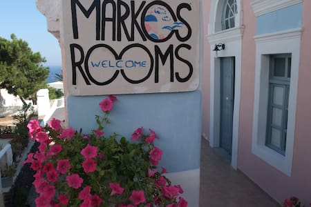 Marcos Rooms-Standard Twin Private - Thira - Szoba reggelivel