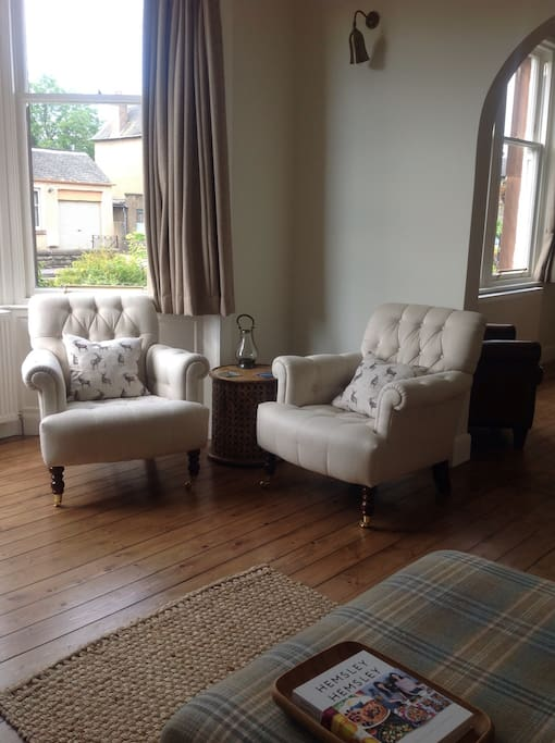 Armchairs in living room