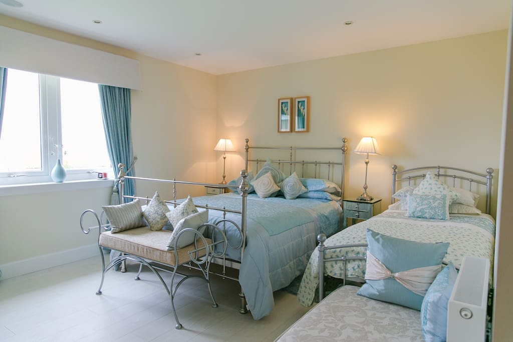 Large double bed + single bed