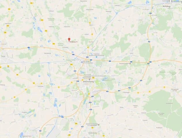 Im Dreieck Braunschweig, Wolfsburg, Gifhorn - Schwülper - Apartment