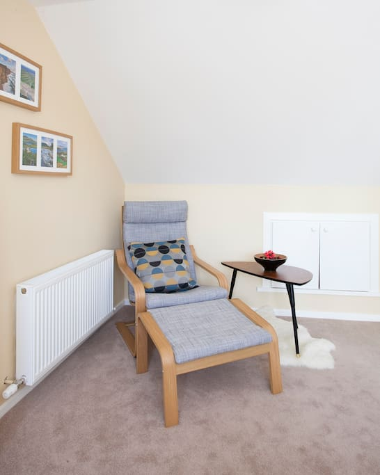 A comfortable chair to relax in, read a book, surf the net or catch 40 winks after a busy day