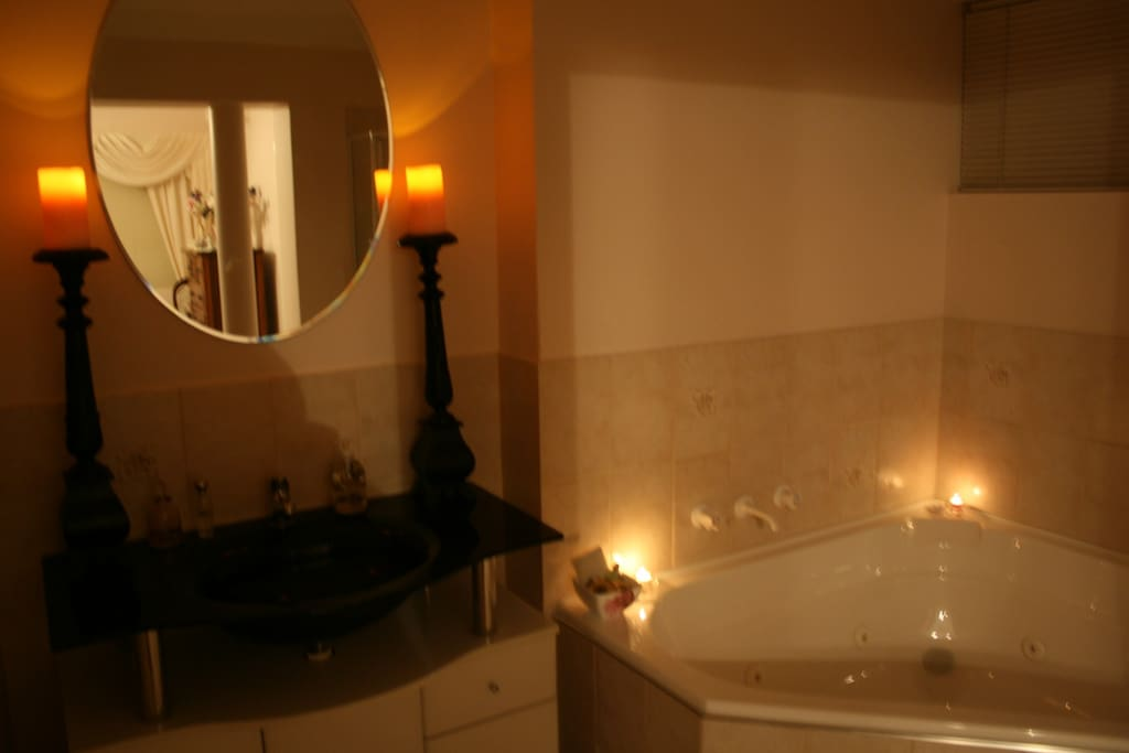 Candle Lit Spa  Bathroom