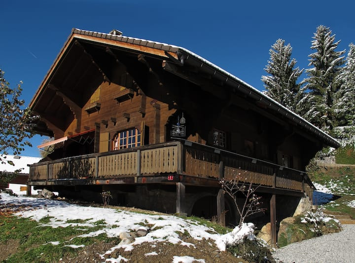 Old family chalet located above Gryon railway station