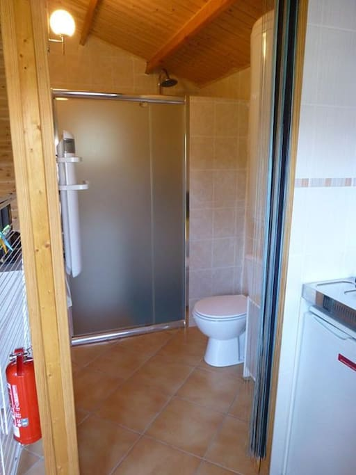 L'espace toilettes salle d'eau