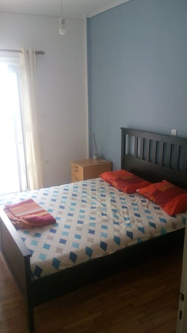 King size bed in one bedroom