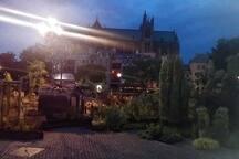 jardin déco devant l'opéra-théatre de Metz