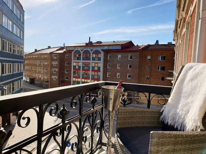 Charming apartment in the heart of Karlstad, 112m2