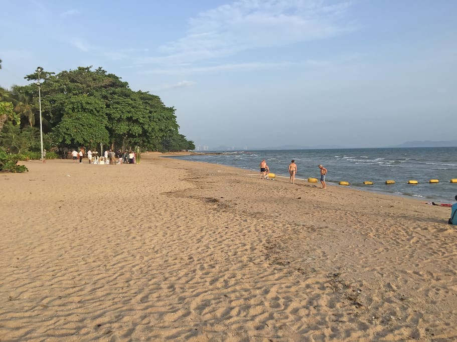 The lovely beach, just few min. walk away from the condo.