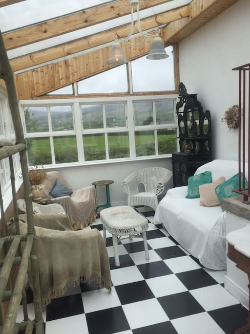 Conservatory with stunning views over Cooley mountains