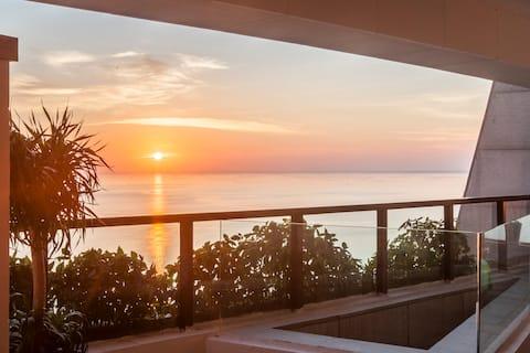 《印第安帐篷海景房》超级大露台•北海金滩北部湾一号•网红打卡地。270度无敌海景•落日美景绝佳观赏地