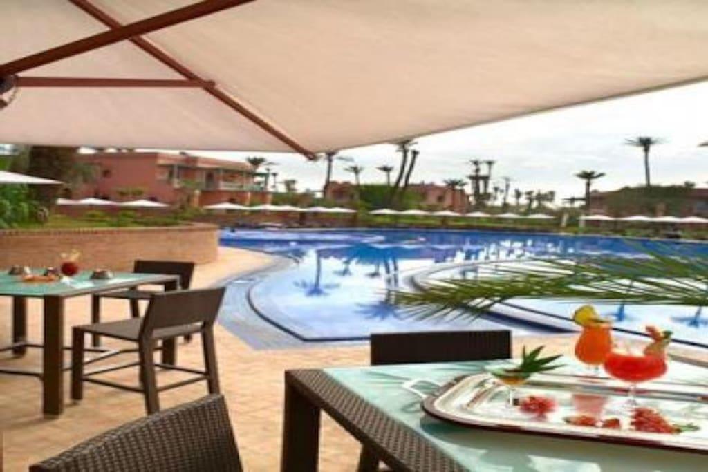 Bel appartement avec piscine apartments for rent in for Appartement avec piscine marrakech