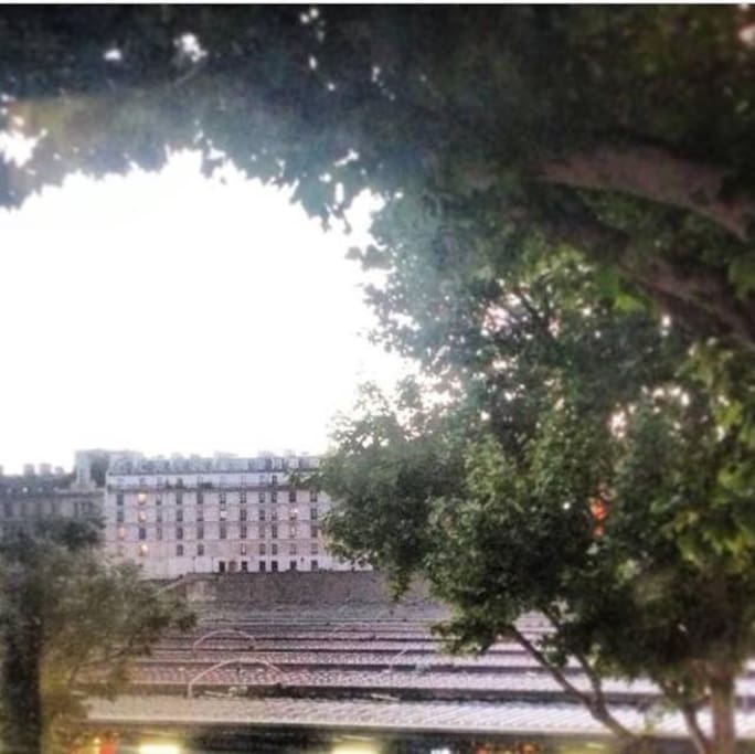 a very open view out over the gare de l'est