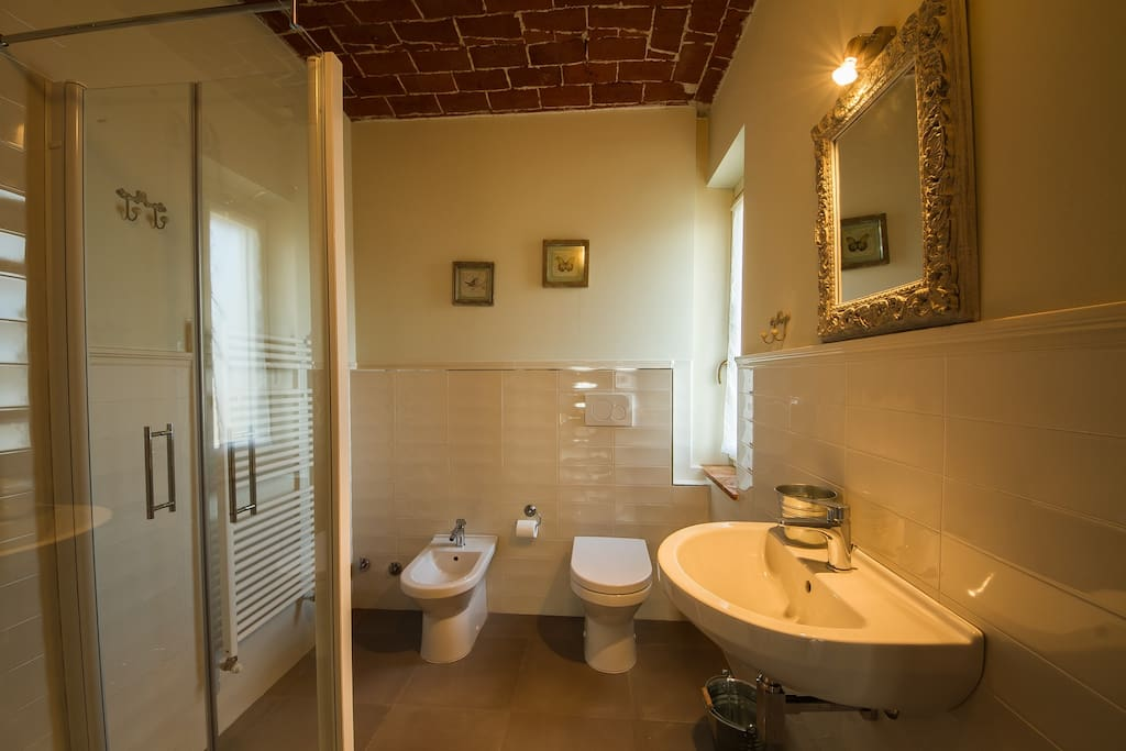 Questa camera gode di un ampio bagno privato con finestra.