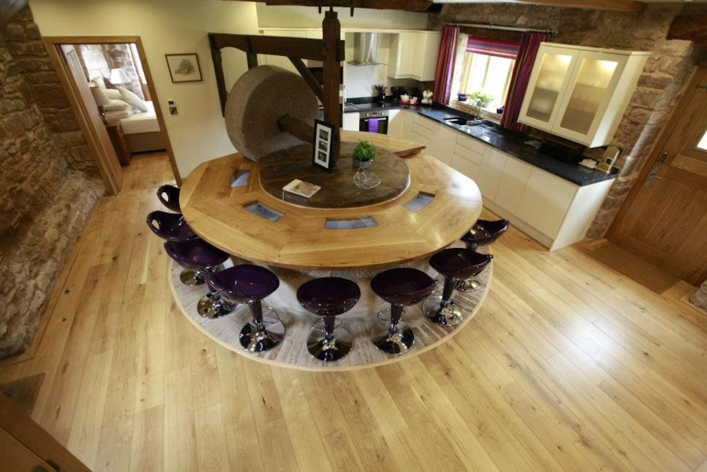 Cider Press Cleverly converted Dining Table & Kitchen