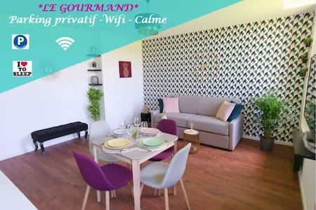 LE GOURMAND *T2 (40m²) *WIFI*PARKING PRIVE*CALME