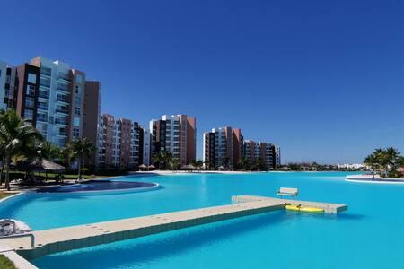Departamento Dream Lagoons Veracruz ¡ Increíble !