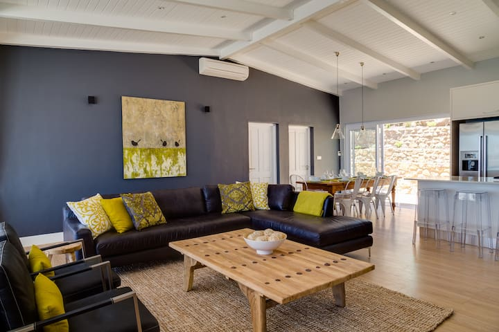 Living room and dining room open plan