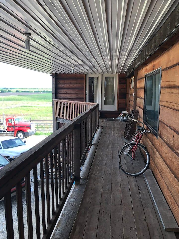 Loft above barn