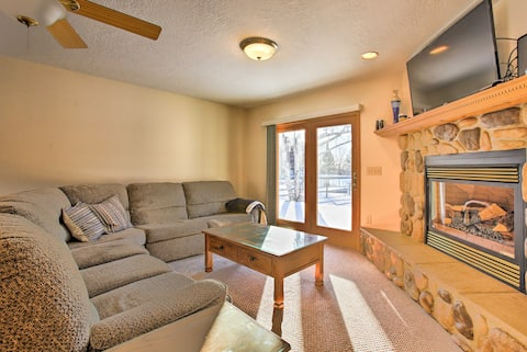 Cozy Riverfront Home w/ Fire Pit in Houghton Lake!