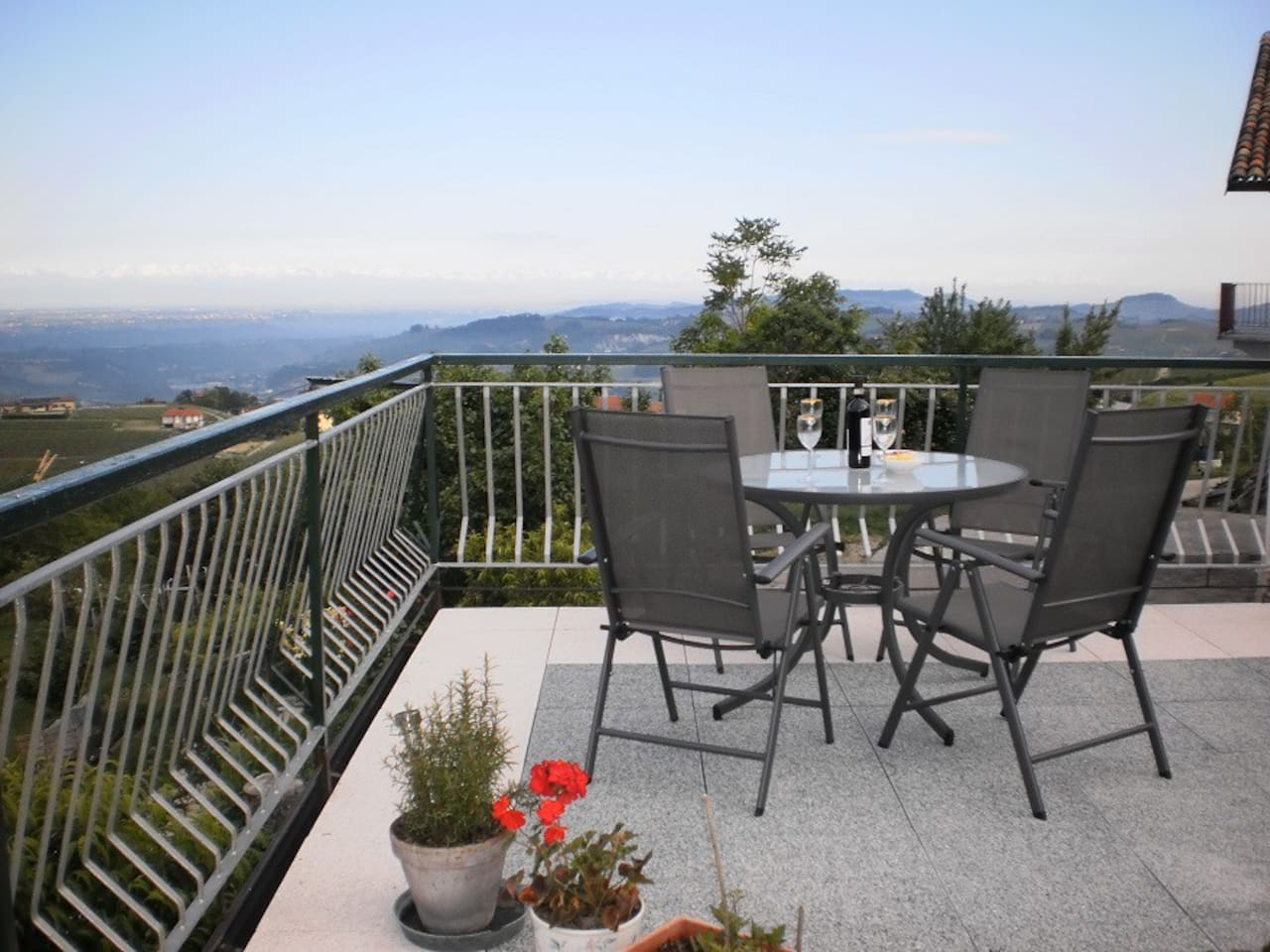 The Terrace with views to Barolo