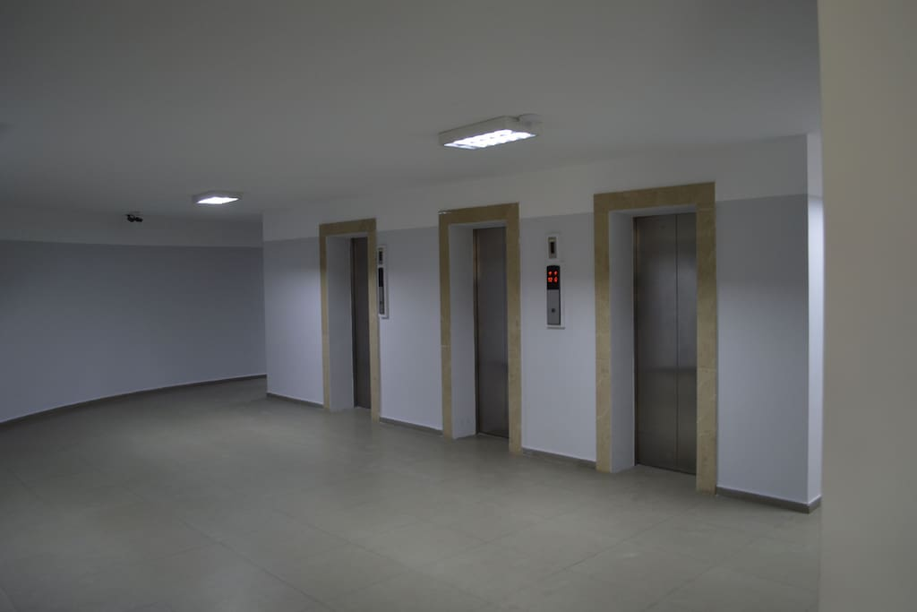 Elevators on ground floor