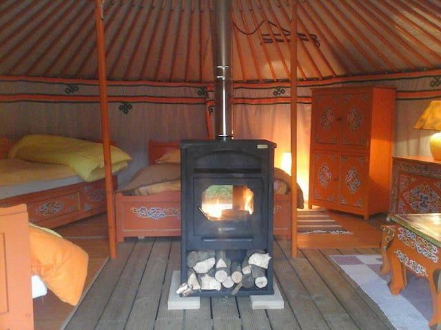 Nuit insolite dans une véritable yourte mongole - Martigny-Courpierre - Yurt