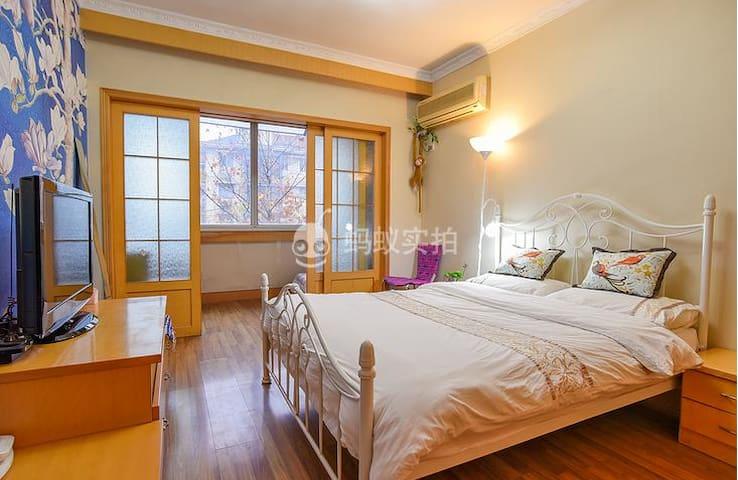 WestLake 770米到西湖 350米到地铁 紧临武林广场的大室小厅 可住3人 - Hangzhou - Lägenhet