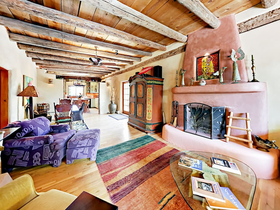 Colorful decor and Santa Fe design touches create a classic Southwest vibe throughout the home.