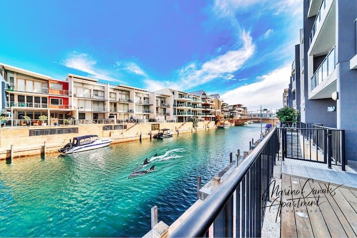 Dolphin views from your balcony Mandurah Marina