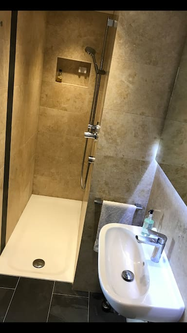 Luxury ensuite 1.5 meter long shower room for two