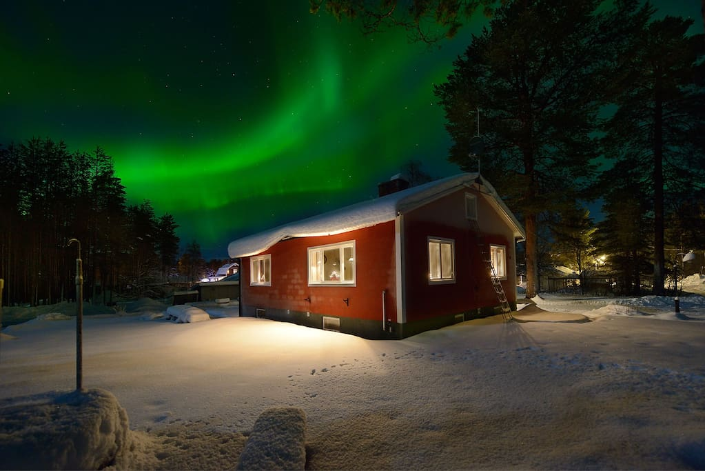 We often have Auroras during the dark season, from August to May!