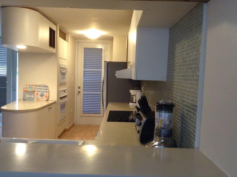 Refrigerator, oven, microwave, dishwasher