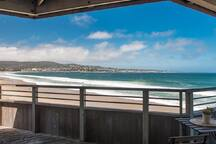 Ocean and city light views from the private deck
