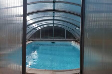 maison calme avec piscine privée et vue  Gergovie - Le Crest - House - 2