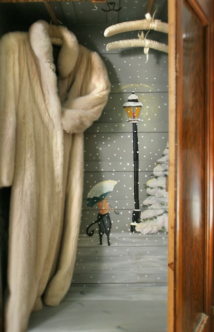 The famous wardrobe from the the adventure to Narnia, that the children went through to see the ice castle, beavers and the Ice Queen.