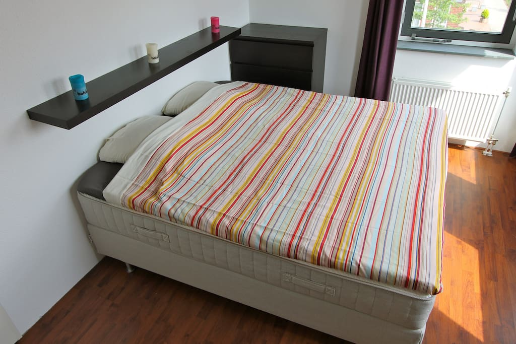 Brand new, soft  and comfortable boxspring with topper.