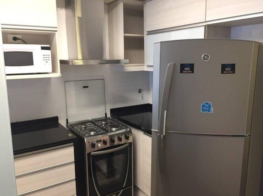 Cocina totalmente equipada con electrodomésticos de primera calidad