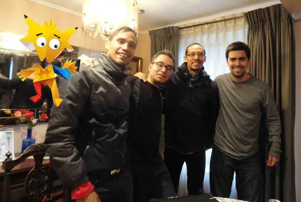 Excelente experiencia tuvimos con nuestros huéspedes colombianos y peruano para las eliminatorias de Copa América 2015 en Junio, aprovechando las cercanías con el Estadio y el barrio tranquilo :-)
